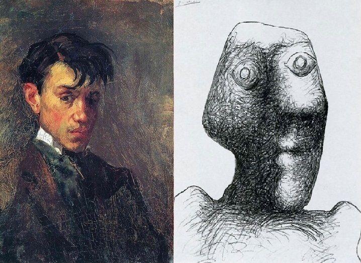 Эволюция автопортретов Пабло Пикассо: от 15 до 90 лет
